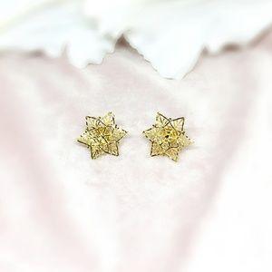 Bridal Jewelry, Bridal Earring, Star Earring